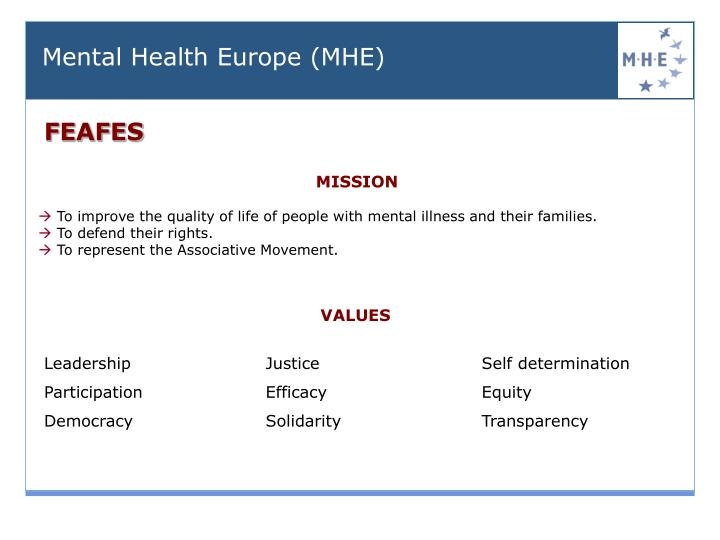 Mental Health Europe (MHE)