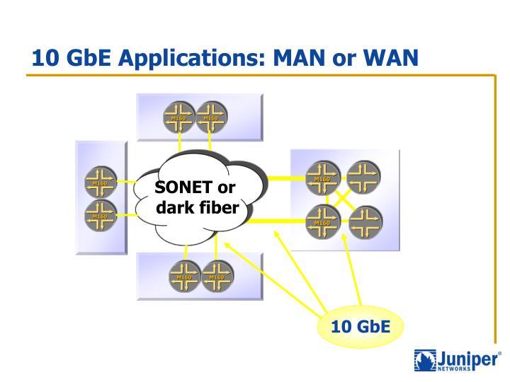 10 GbE Applications: MAN or WAN