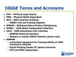 10gbe terms and acronyms