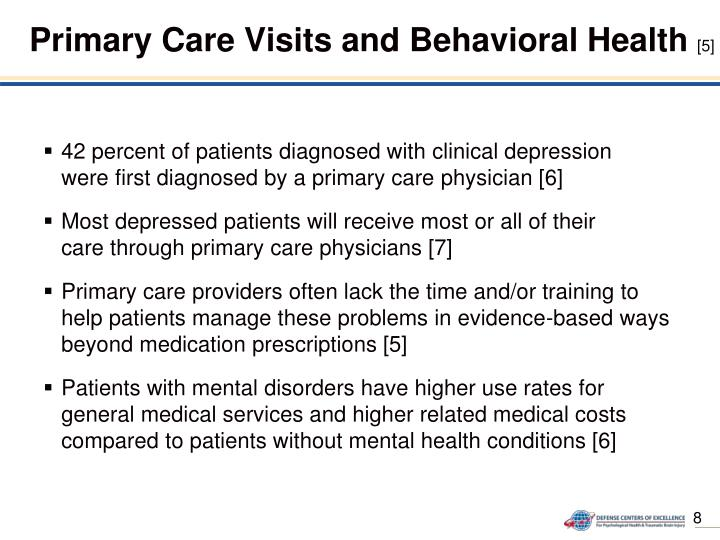 Primary Care Visits and Behavioral Health