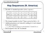 hop sequences n america