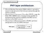 phy layer architecture