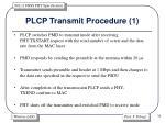 plcp transmit procedure 1