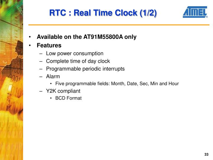 RTC : Real Time Clock (1/2)