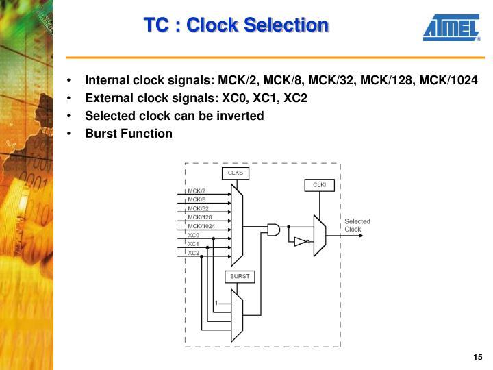 TC : Clock Selection