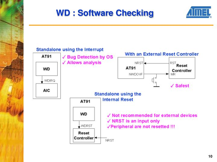 WD : Software Checking
