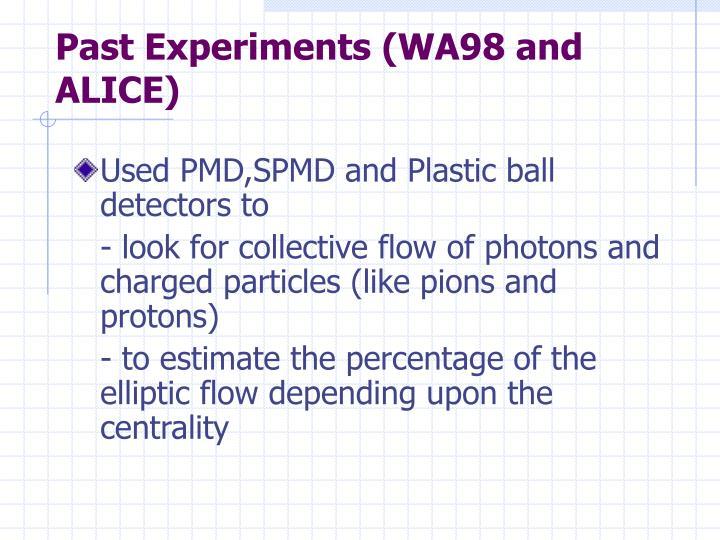 Past Experiments (WA98 and ALICE)