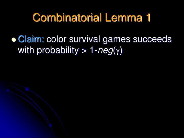 Combinatorial Lemma 1