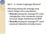 bab 2 b analisis lingkungan eksternal
