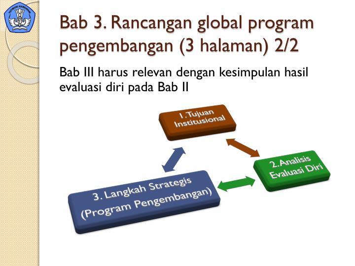 Bab 3. Rancangan global program pengembangan (3 halaman) 2/2