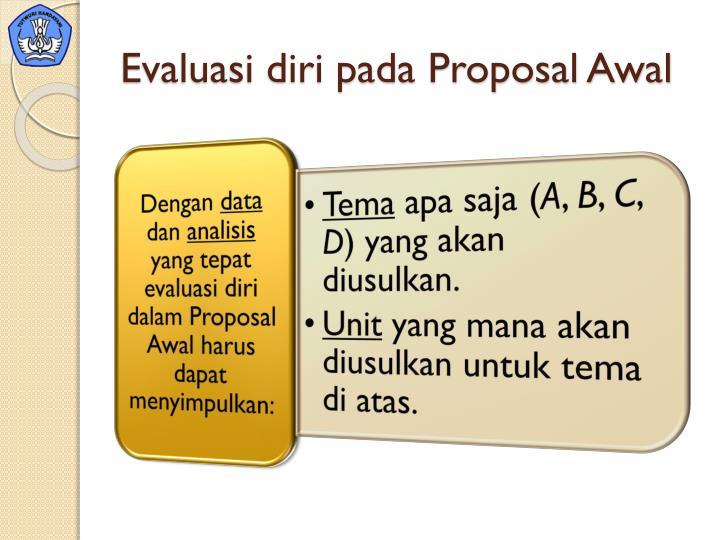 Evaluasi diri pada Proposal Awal
