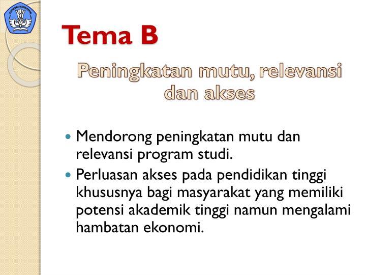Tema B