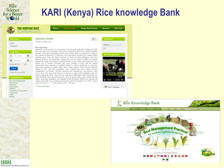 KARI (Kenya) Rice knowledge Bank