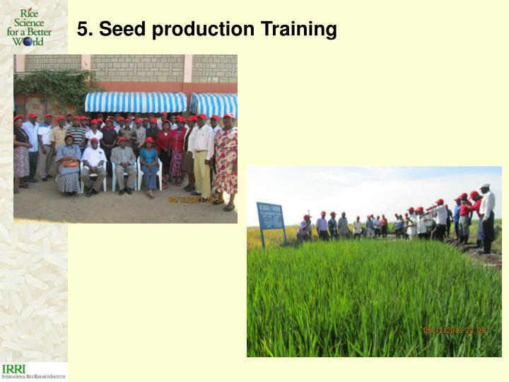 5. Seed production Training