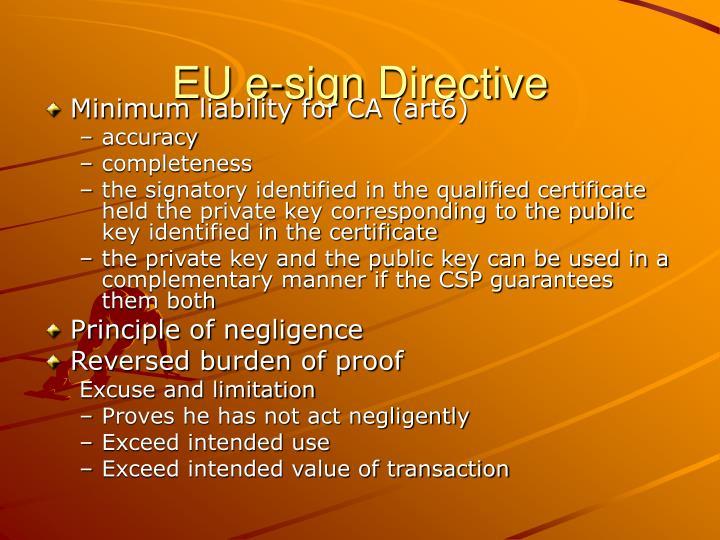 EU e-sign