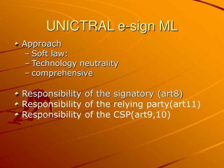 UNICTRAL e-sign ML