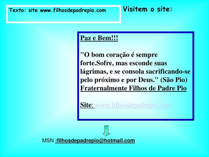 Visitem o site:
