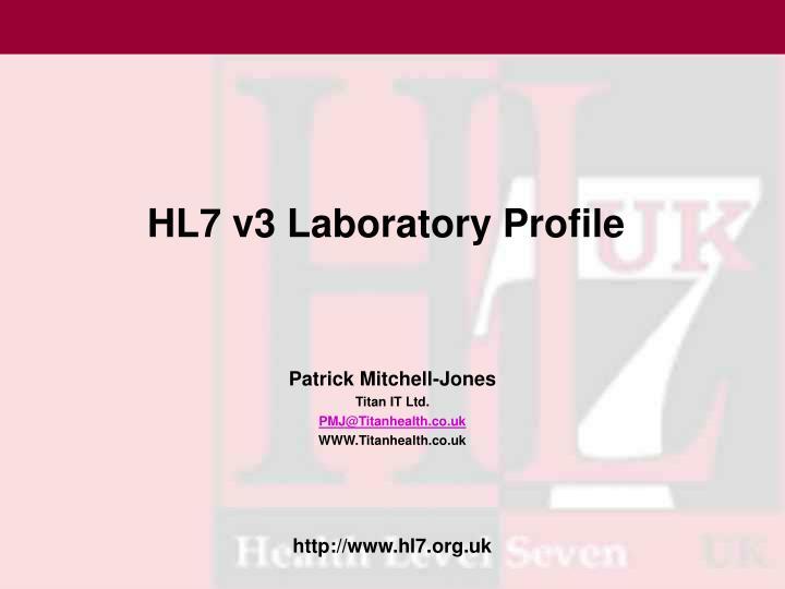 HL7 v3 Laboratory Profile