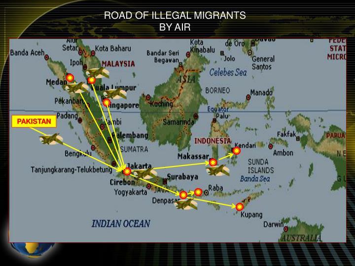 ROAD OF ILLEGAL MIGRANTS
