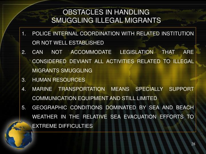 OBSTACLES IN HANDLING