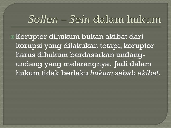 Sollen – Sein