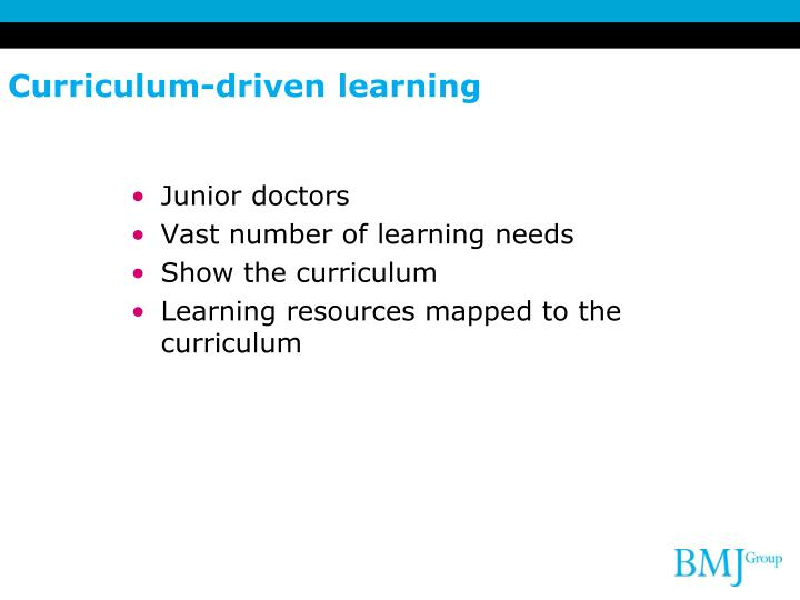 Curriculum-driven learning