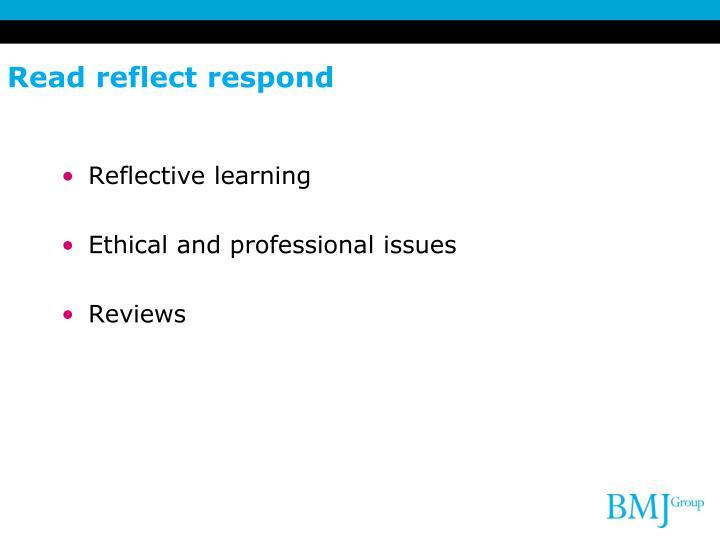 Read reflect respond