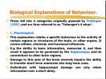 biological explanations of behaviour
