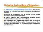 biological explanations of behaviour1
