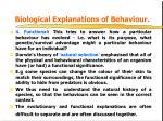 biological explanations of behaviour3