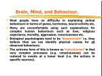 brain mind and behaviour
