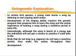 ontogenetic explanation