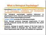 what is biological psychology