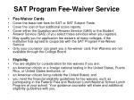 sat program fee waiver service
