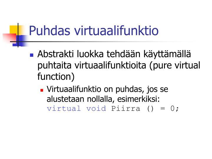 Puhdas virtuaalifunktio