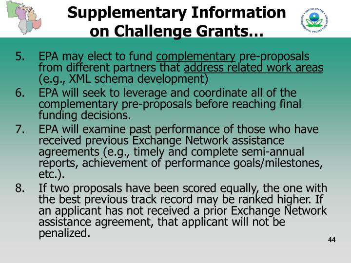 Supplementary Information on Challenge Grants…