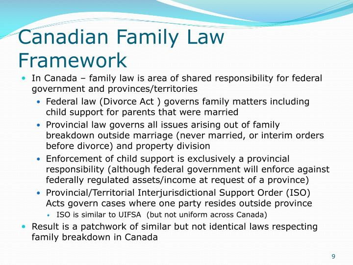 Canadian Family Law Framework