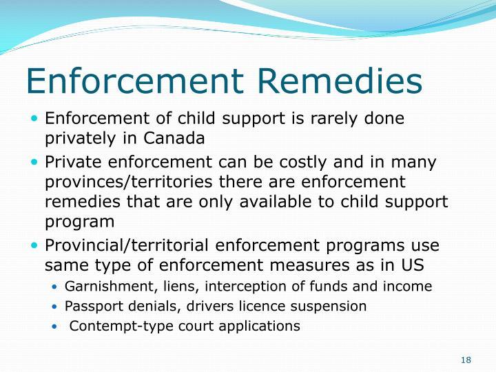Enforcement Remedies