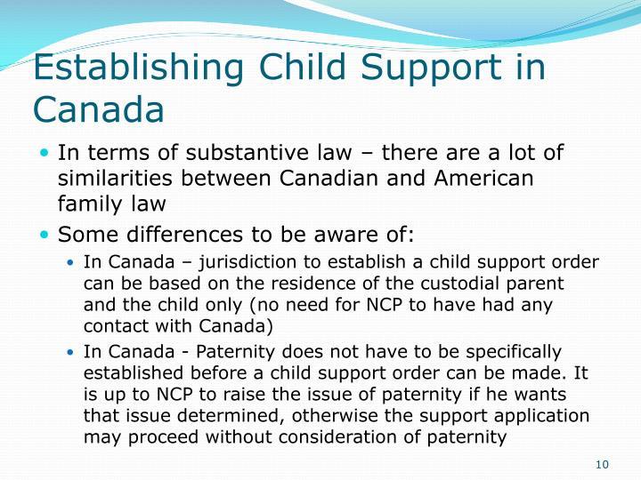 Establishing Child Support in Canada