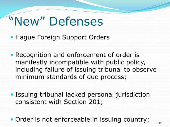 """""""New"""" Defenses"""