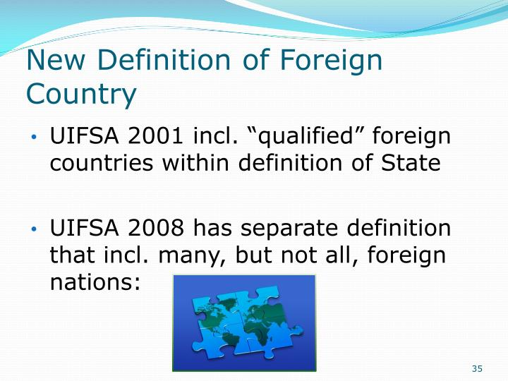 New Definition of Foreign Country