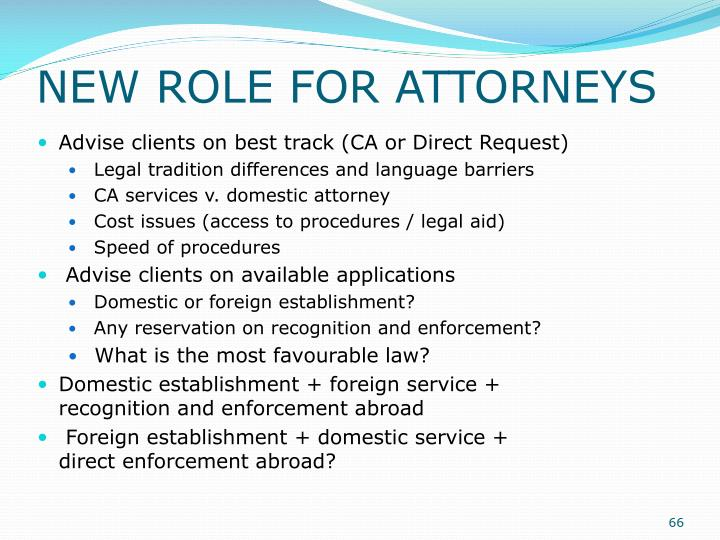 NEW ROLE FOR ATTORNEYS