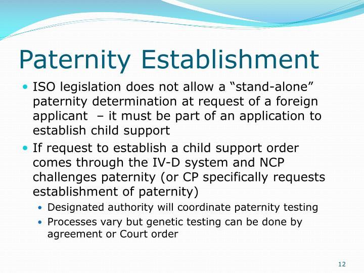 Paternity Establishment