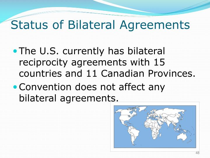 Status of Bilateral Agreements