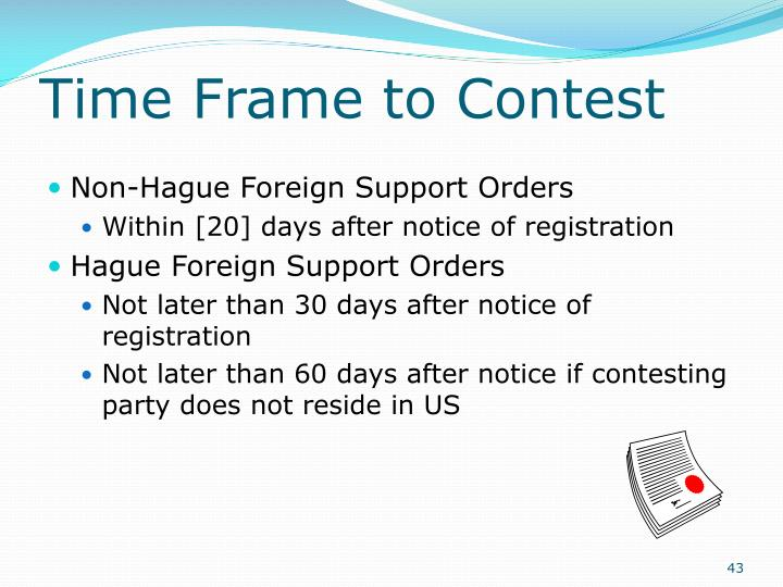 Time Frame to Contest