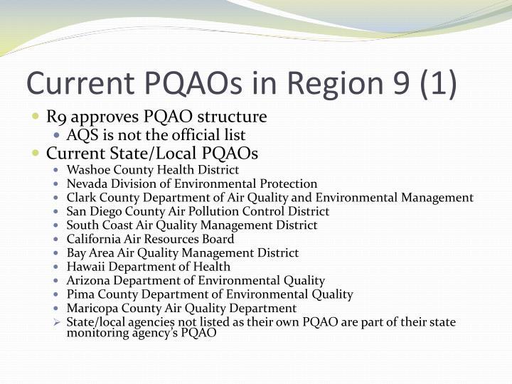 Current PQAOs in Region 9 (1)
