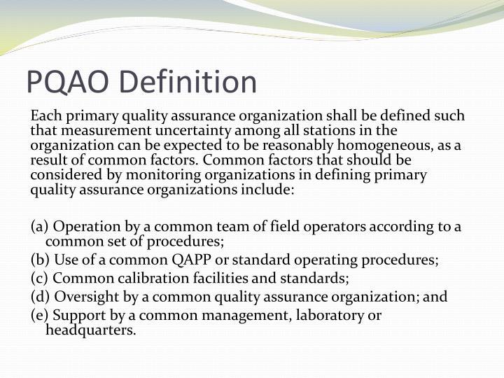 PQAO Definition