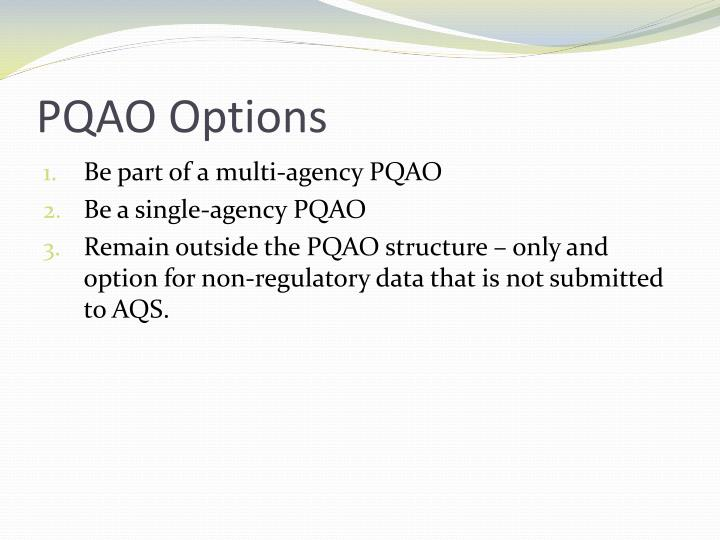 PQAO Options