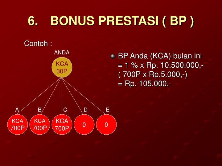 6.BONUS PRESTASI ( BP )