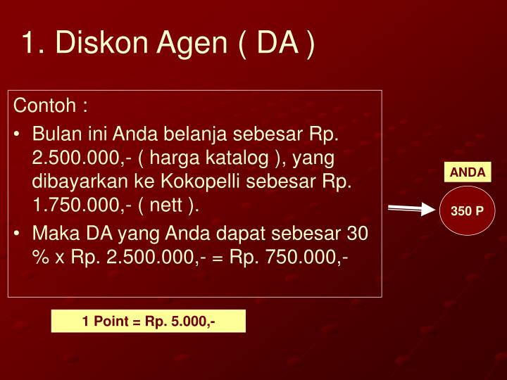 1. Diskon Agen ( DA )
